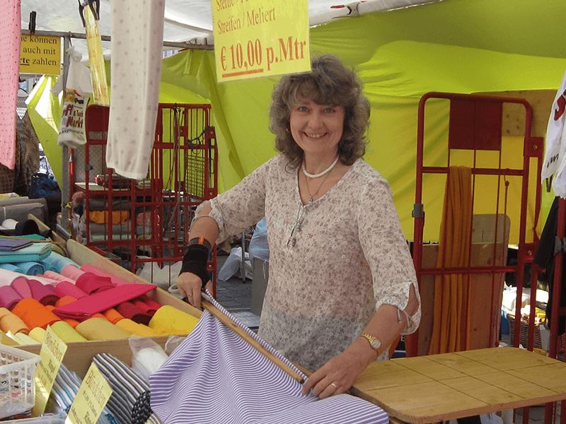 Frau Mann Stoffmarkt Expo